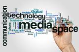 Fototapeta Kawa jest smaczna - Media space word cloud