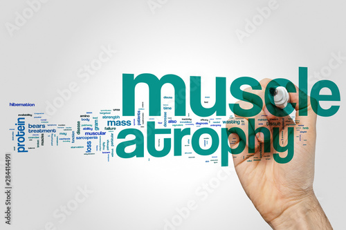 Photo Muscle atrophy word cloud concept