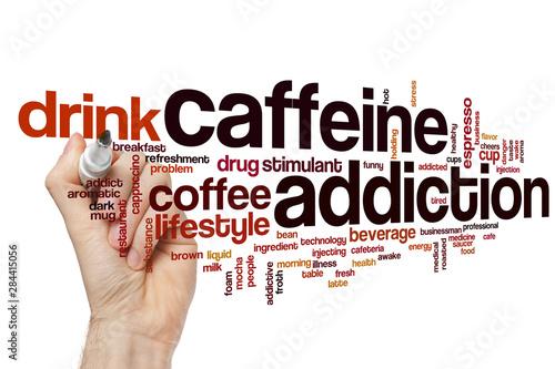 Photographie Caffeine addiction word cloud