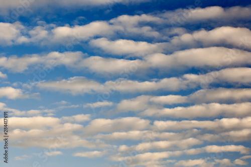 Altocumulus cloud pattern, Switzerland Canvas Print