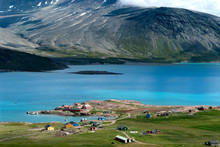 Greenland, Igaliku. Once The Heart Of 12th Century Norse Greenland, Igaliku Is A Quite Village In South Greenland With A Population Of Just 60 People.
