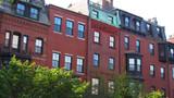 Fototapeta Londyn - Boston, USA: Altbau Fassaden in Beacon Hill