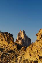 Shiprock At Sunset Volcanic Plug, Shiprock, New Mexico, USA, September