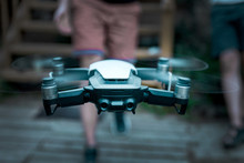 Vilnius, Lithuania - June 8, 2019: DJI MAVIC AIR - Drone With Camera, Mounted On A 3-axis Gimbal.