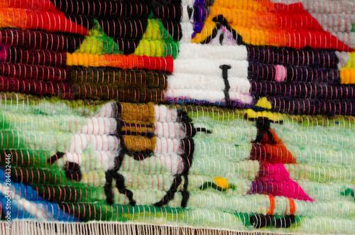 Ecuador, Quito area, Otavalo Handicraft Market Fotobehang
