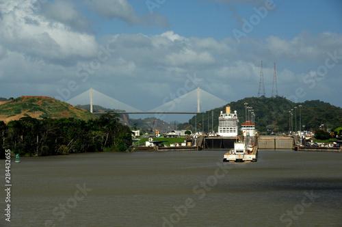 Central America, Panama, Panama Canal Canvas Print