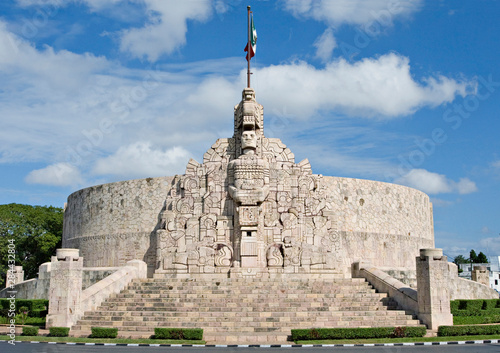 North America, Mexico, Yucatan, Merida. Monument to the Motherland at the head of the Paseo Montejo, also called Monumento a la Patria or Monumento a la Bandera