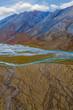 USA, Alaska, Brooks Range, Arctic National Wildlife Refuge. Aerial of mountains and Ivishak River. Credit as: Don Paulson / Jaynes Gallery / DanitaDelimont.com