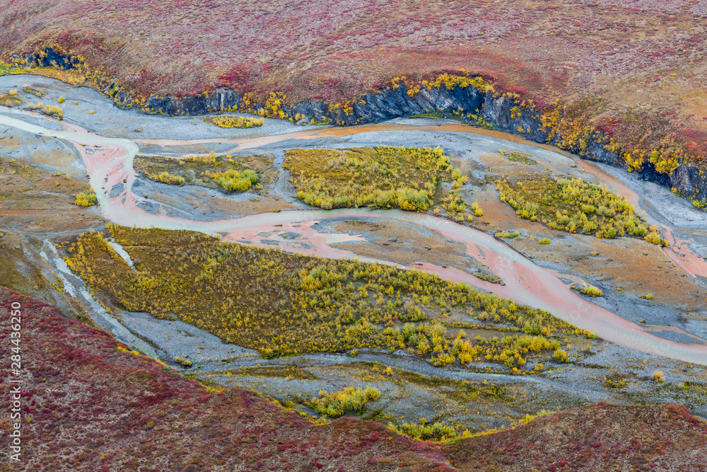 USA, Alaska, Brooks Range, Arctic National Wildlife Refuge. Aerial of Ivishak River. Credit as: Don Paulson / Jaynes Gallery / DanitaDelimont.com