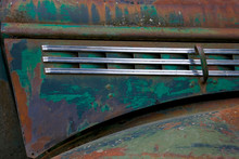 Detail Of An Abandoned Chevy Truck That Had Been Used As Part Of Alaska Air Transport.