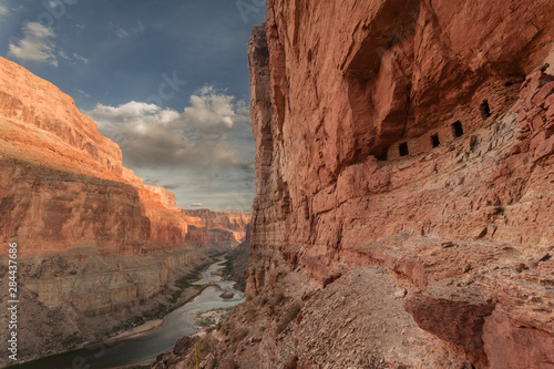 USA, Arizona, Grand Canyon, Colorado River Float Trip Nankoweap Fototapet