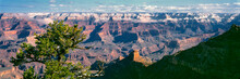 USA, Arizona, Grand Canyon NP. The North Rim, Almost 1000 Feet Higher, Is Seen From Yaki Point, Grand Canyon NP, Arizona, A World Heritage Site.