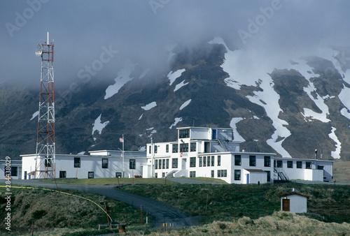 US Coast Guard Station, Attu Island, Farthest west Aleutian Islands, Bering Sea, Canvas Print