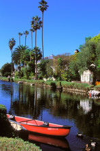 Venice Canals, Los Angeles, California, USA.