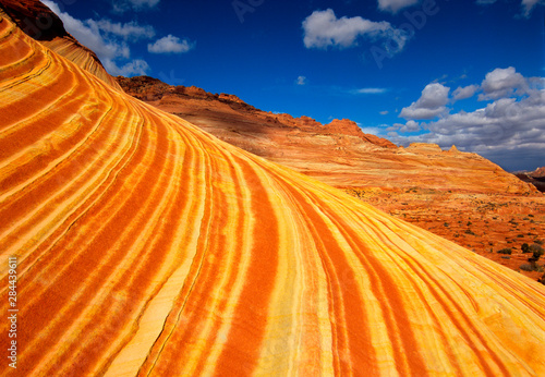 Striated rock formations abound in the Paria Canyon-Vermilion Cliffs Wilderness along the Arizona-Utah border Wallpaper Mural