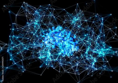 Obraz na plátně  抽象的な人工知能