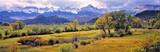 USA, Colorado, Ridgway. Harvest is ending in Ridgway, just below the San Juan Mountains in Colorado