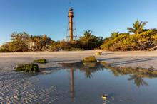 Sanibel Island Lighthouse In Florida, USA