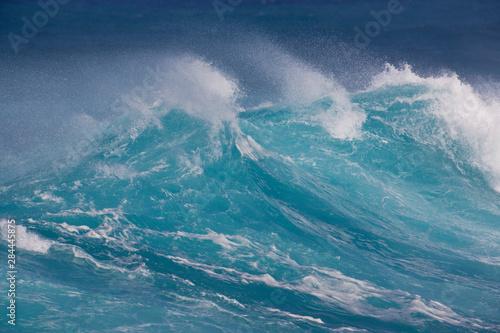 Foto auf Gartenposter Wasser Waves cresting along Hookipa beach state park, Maui, Hawaii
