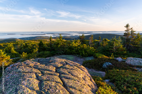 Valokuva  Glacial striations in the granite on the summit of Cadillac Mountain in Maine's Acadia National Park