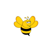 Designs Bee Concept Logo Vector
