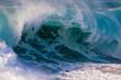 USA, Hawaii, Oahu, Large waves along the Pipeline Beach on the windward side of the Island