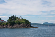 Maine, Rockland, Penobscot Bay. Owls Head State Park, Historic Owls Head Lighthouse, Circa 1852.