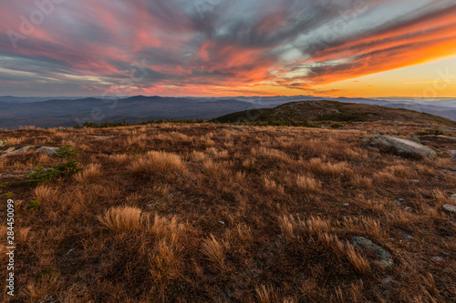 Sunset on the Appalachian Trail on Saddleback Mountain in Maine's High Peaks Region Wallpaper Mural