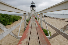 Massachusetts, Nantucket. Brant Point Lighthouse. The Current Lighthouse, The Last Of Many, Was Built In 1901.