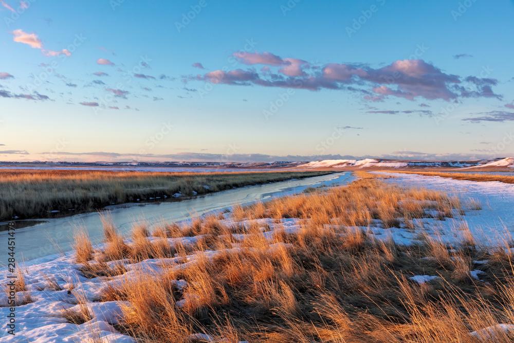 Fototapety, obrazy: Wetlands in spring at Freezeout Lake Wildlife Management Area near Choteau, Montana, USA