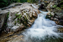 Small Falls In Pemigewasset River, Franconia Notch State Park, White Mountains, NH