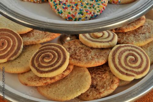 USA, Oregon, Portland. Close-up of sugar cookies on tray.