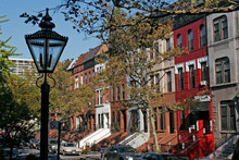 Harlem Brownstones, Manhattan,...