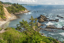 South Cove At Low Tide As Seen From Cape Arago.