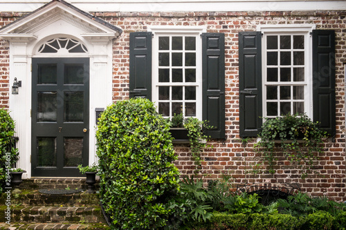 Classic brick house architecture, Charleston, South Carolina. USA