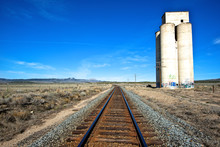 An Abandoned Trackside Silo Near Eureka, Utah