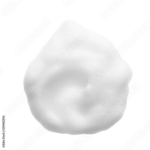 Fototapeta White cleanser foam texture isolated on white background