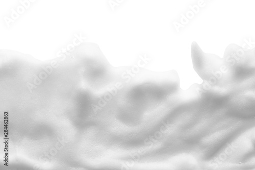 Fotografie, Obraz White cleanser foam texture isolated on white background