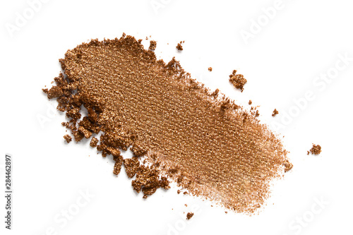Bronzer or eyeshadow swatch Fototapet