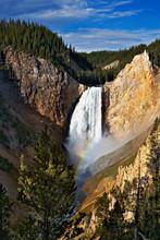 Rainbow On Lower Yellowstone Falls, Yellowstone National Park, Wyoming/Montana