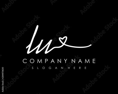 LU Initial handwriting logo vector Fototapete