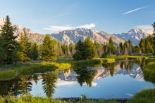Pond, And Grand Teton's, Grand...