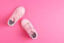 Pair Of Stylish Child Shoes On...