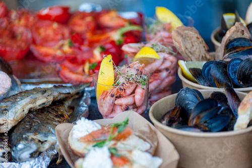 Foto op Canvas India Fresh street food closeup .