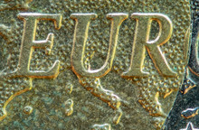Close-up Of A Coin (Euro)