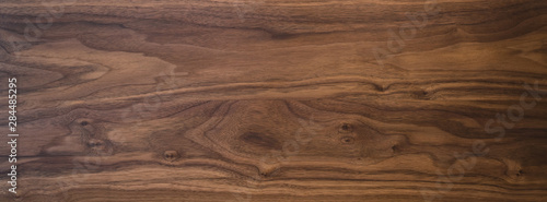 Obraz Black walnut wood texture from two boards oil finished - fototapety do salonu