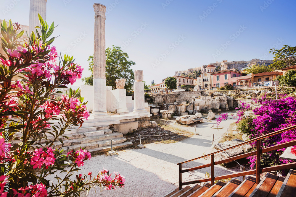 Fototapety, obrazy: Ancient Greece, detail of ancient street, Plaka district, Athens, Greece