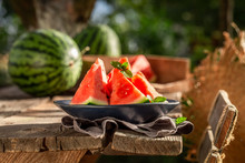 Juicy And Sweet Watermelon In ...