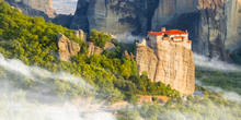 Mountain Scenery With Meteora ...