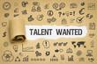 Leinwanddruck Bild Talent wanted